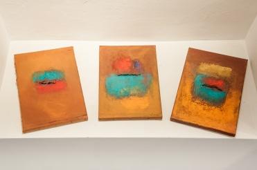 collage pigments et terre